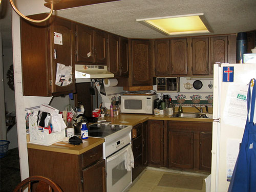 The kitchen before the remodeling project began.